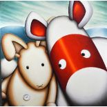 AFTER PETER SMITH (BRITISH B.1967), 'Bunny My Honey', a limited edition print on box canvas, No.61/
