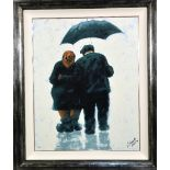 ALEXANDER MILLAR (SCOTTISH B.1960), Mam and Dad, limited edition print, No.79/295, numbered and