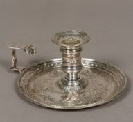 A George III silver chamberstick, hallmarked London 1777,
