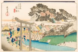 UTAGAWA HIROSHIGE (1797-1858) Japanese Stations 6 and 29 From the 53 Stations of the Tokaido,