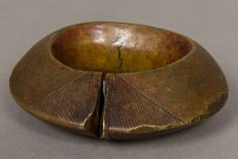 An 18th century Benin bronze bangle Of typical form. 10 cm wide.