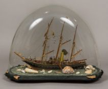 A Scratch Built model of a three masted sailing ship, The Georgette,