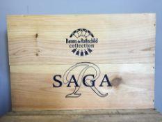 Saga Bordeaux Coffret Prestige Barons de Rothschild Lafite Collection Six bottles,