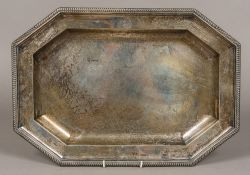 A George III silver tray, hallmarked London 1801,