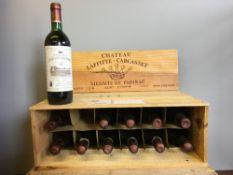Chateau Laffitte-Carcasset Saint-Estephe 1983 Twelve bottles, in old wooden case.