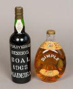 D'Oliveiras Reserve 1968 Madeira Single bottle; together with a vintage bottle of John Haig & Co.