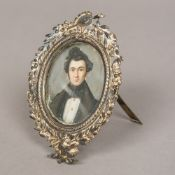 CONTINENTAL SCHOOL (late 19th/early 20th century) Portrait Miniature of a Young Man Housed in an