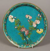 A 19th century Chinese cloisonne dish Of low dished circular form,
