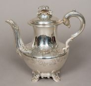 A George III silver teapot, hallmarked London 1796, maker's mark of JB over WN Of baluster form,