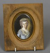 CONTINENTAL SCHOOL (19th century) Portrait miniature of a Young Lady Watercolours,