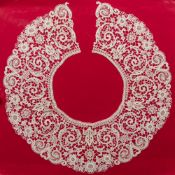 Two 19th century French lacework collars Both typically worked, mounted.