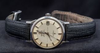 An Omega Constellation Chronometer gentleman's steel cased wristwatch The signed dial with baton