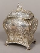 A Victorian silver tea caddy, hallmarked London 1896,