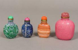 A Chinese Peking cameo glass snuff bottl