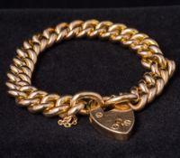 An Edwardian 15 ct rose gold bracelet