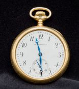An 18 ct gold gold cased pocket watch by
