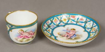 A late 18th century Sevres porcelain cup