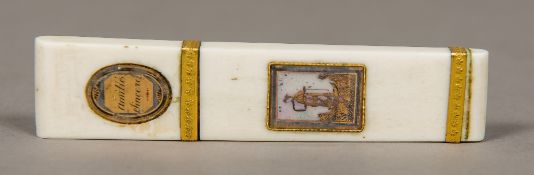 A 19th century French ivory toothpick ca