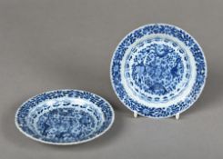 A pair of Chinese blue and white porcela