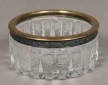 A Russian silver mounted cut crystal gla