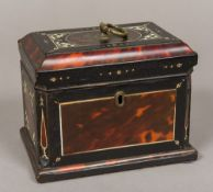 An 18th century tortoiseshell, ivory and