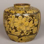 A Chinese pottery jar
