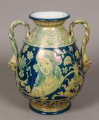 A 19th century Italian majolica pottery