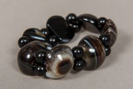 A agate and banded agate bracelet