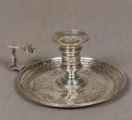 A George III silver chamberstick, hallmarked London 1777,