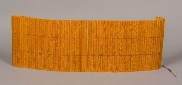 A Chinese bamboo slip book