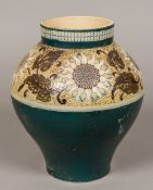 A Victorian Martin Brothers pottery vase