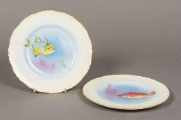 A pair of Royal Worcester porcelain plat