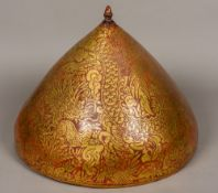 A large Eastern/Oriental lacquered cover