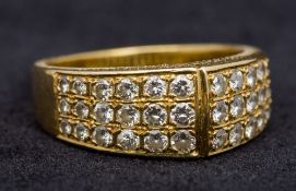 An 18 ct gold diamond set ring