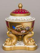 A Samson 'Derby' pot pourri vase and cov