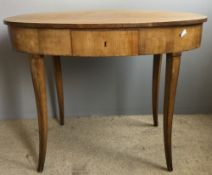 A 19th century Continental oval centre table