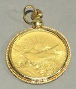 A Maltese 1972 £20 gold coin,