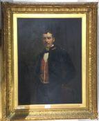 A portrait of a gentleman, oil on board,
