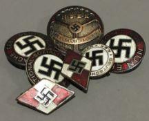 Seven Nazi badges