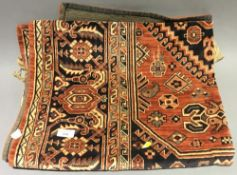 A small Caucasian rug