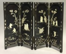 A Chinese folding table screen