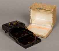 An Oriental folding jewellery box,
