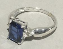 A 9 ct white gold,