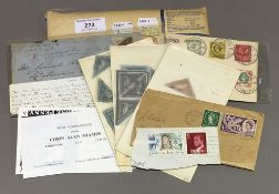 A small quantity of stamps