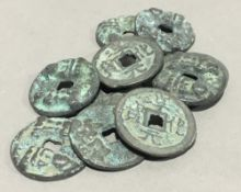 Ten Chinese coins