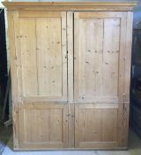 A 19th century pine housekeepers' cupboard