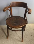 An early 20th century Bentwood armchair