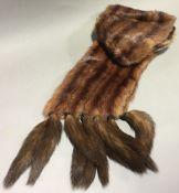A vintage fur stole