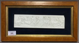 A framed classical style plaque