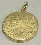 A 9 ct gold locket